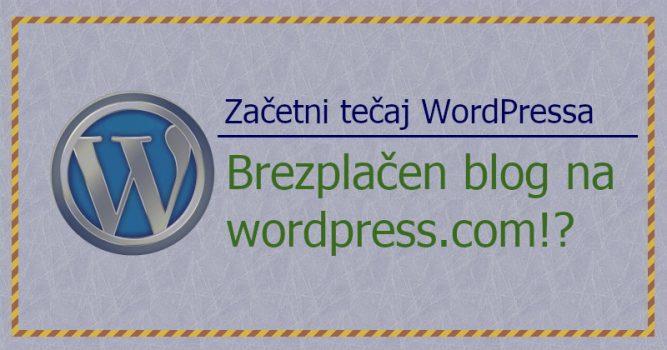 Brezplacen WP blog