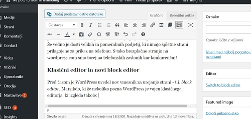 klasicni editor